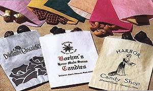 Custom Printed Glassine Lined  Pinch Bottom Paper Bags