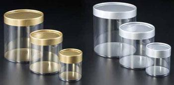 Semi Rigid Round Box w/ Metallic Lid