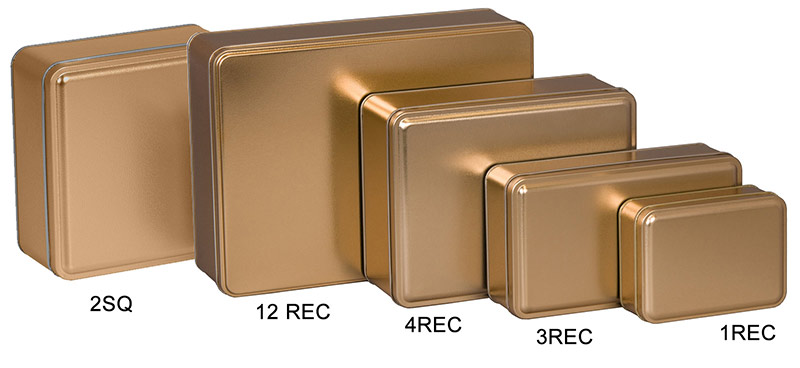 Gold Color Metallic Tins