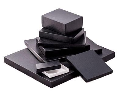 'Great Lakes' Black Leatherette w/ White Base Photo Boxes