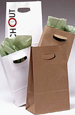 Square Bottom Paper Bags w/Die Cut Handles