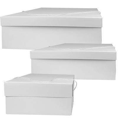 Gloss White 2 Piece Hat Boxes