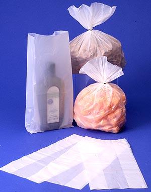 White Hi Density Plastic Bags w/ Standard Gusset
