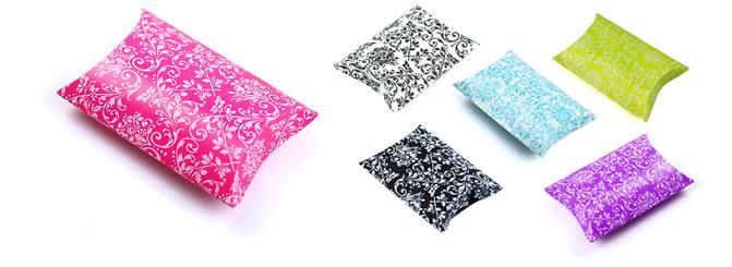 Damask Print Puff Pillow Pack