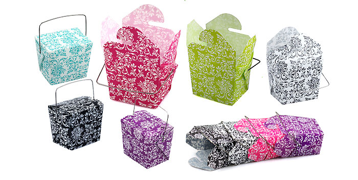 Damask Take Out Boxes