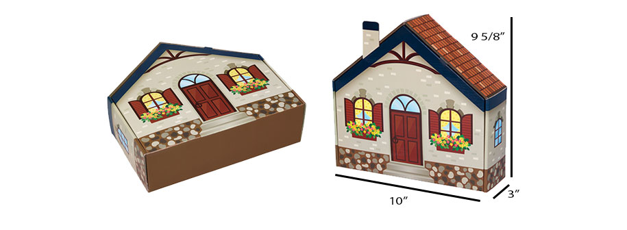House Shaped Home Sweet Home Mailer Boxes