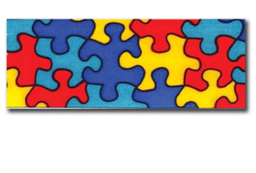 Jigsaw Designed Ribbon