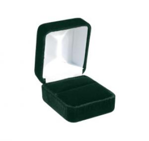 Hunter Green Velvet Jewelry Boxes With Satin Inserts Us