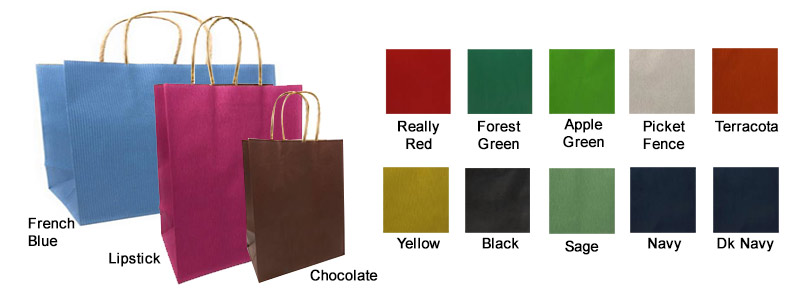 Imported Varnish Pinstripe Color Paper Bags on Kraft