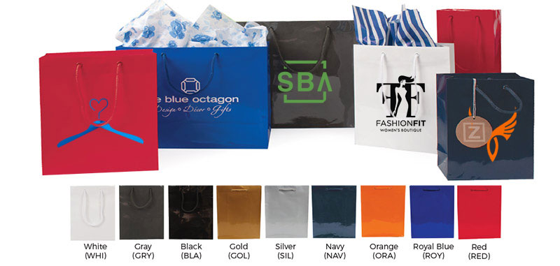 Glossy Colored Imprinted Euro Totes