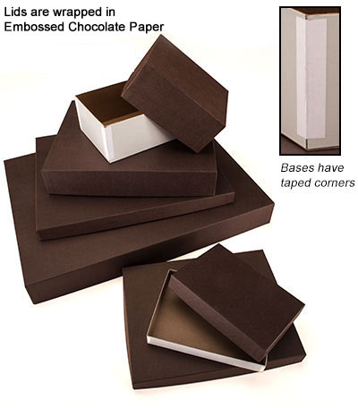 Inexpensive Rigid 2 Piece Chocolate Brown Apparel Boxes