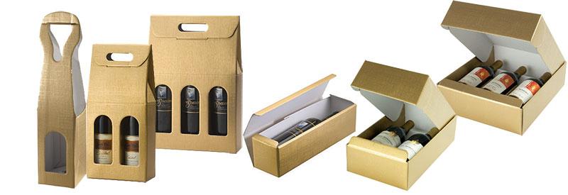 Oro Matte Gold Linen Italian Wine Boxes