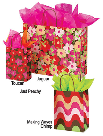 Just Peachy Paper Shopping Bags