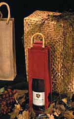 Natural Jute Wine Bags w/Handles