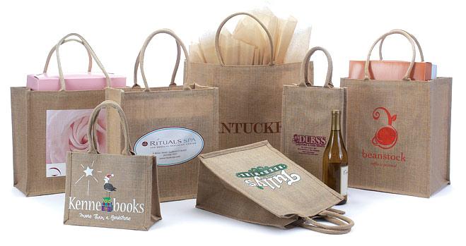 Custom Printed Jute Shopping Bags