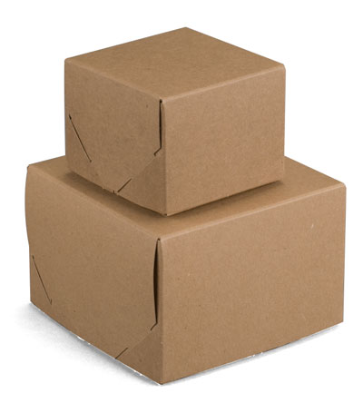 Brown Kraft 2 Piece Lock Corner Boxes