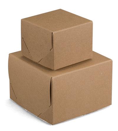 Brown Kraft 2 Piece Lock Corner Boxes