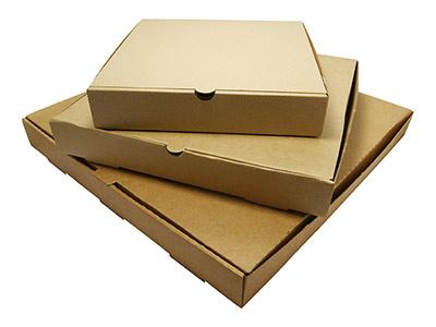 Plain Corrugated Kraft Pizza Boxes