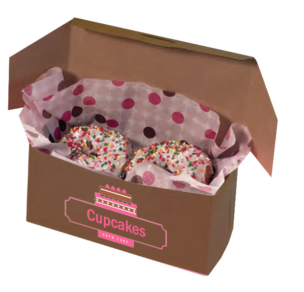 Kwik-Print Cocoa Cupcake Boxes