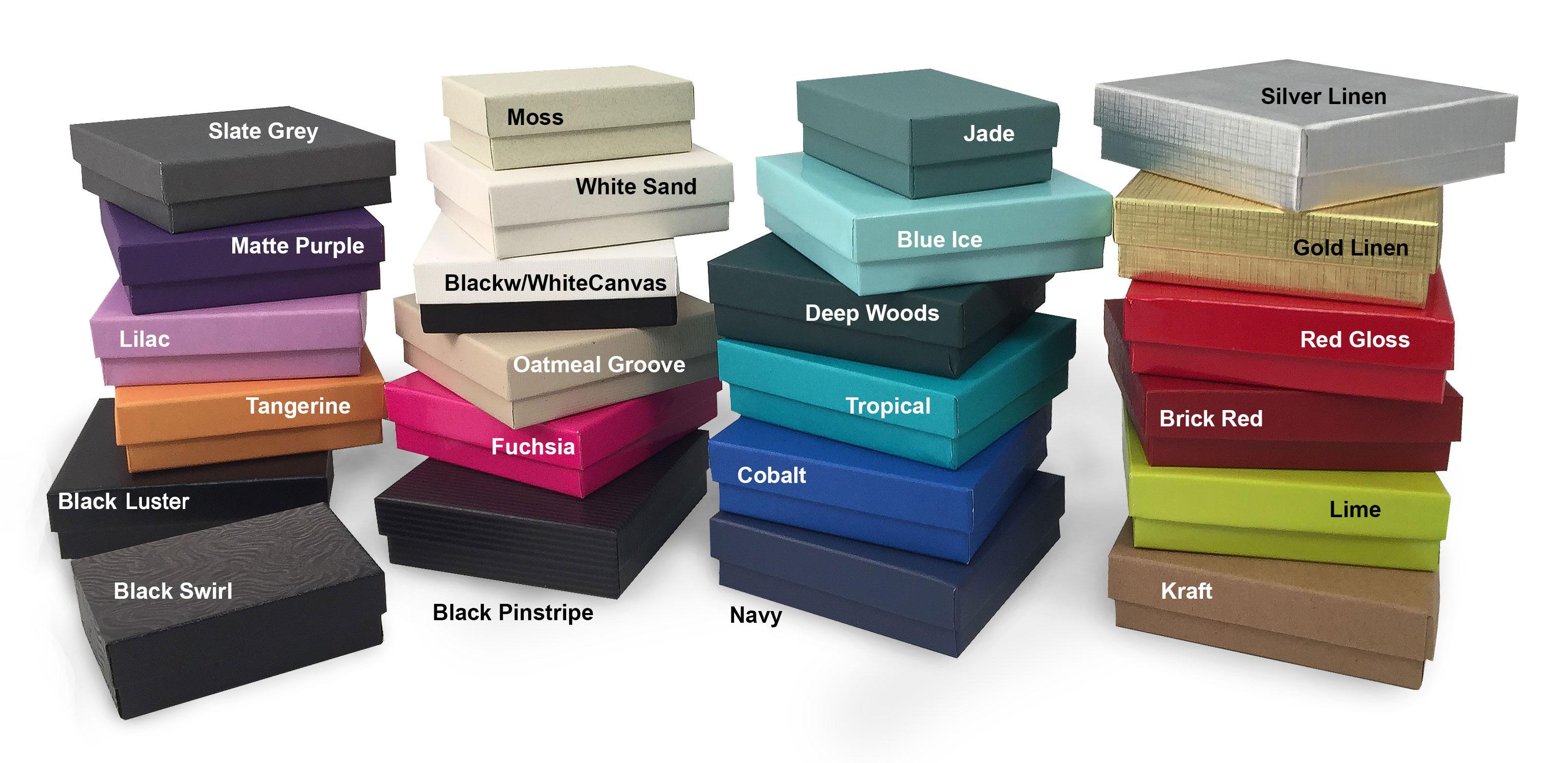 2Piece SetUp Jewelry Box wFiber Insert US Box Corp