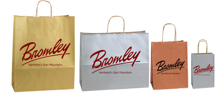 LB  Metallic Color Shopping Bags