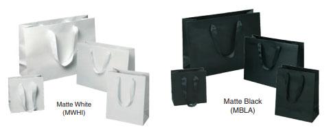 Laminated Manhattan Bags w/ Grosgrain Handles