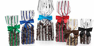 Metallic Striped Polypropylene Bags