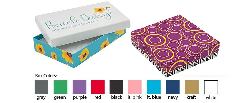 Full Color Printed Jewelry Boxes (Lid & Base)