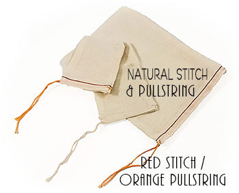Mill Cloth Drawstring Parts and Gift Bags