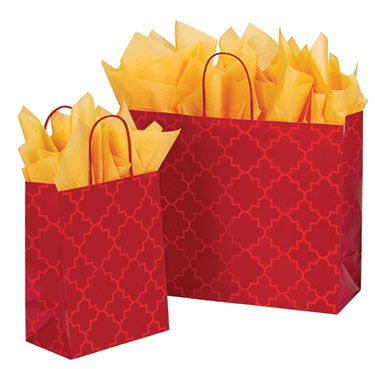 Moroccan Tile Paper Shopping Bags