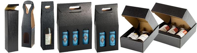 Nero Matte Linen Italian Wine Boxes