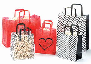 Paisley and Houndstooth Design Plastic Bags