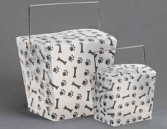 Paw Pattern Plastic Take-out Pail