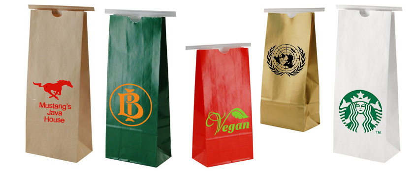 Custom Printed Coffee Tin Tie Bags