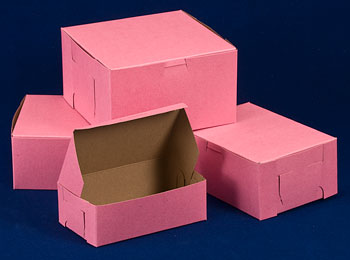 Pink Bakery and Cake Boxes