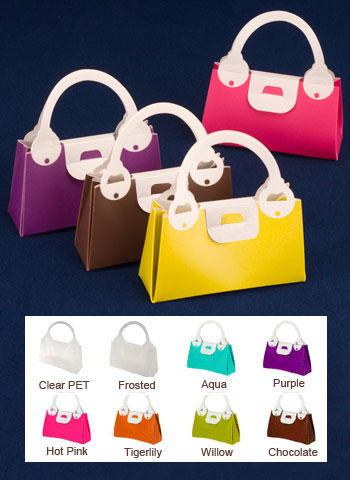 Plastic Purse Shaped Boxes