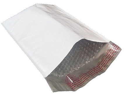 White Poly Bubble Mailers (free shipping)