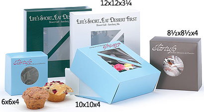 1 Piece Pop-up Windowed White Cake Bakery Boxes