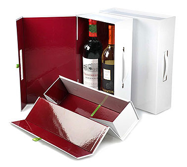 Rigid Magnetic White Wine Box