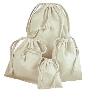 Premium Cotton Drawstring Pouches
