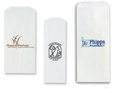 White Printed Pharmacy Bags