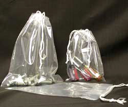1 1/2 mil Polypropylene Double Drawstring Bags