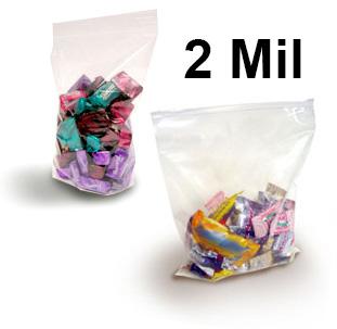 Crystal Clear 2 Mil FDA Polypropylene Zip Style Bags