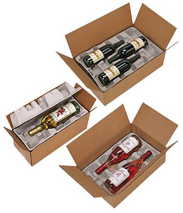Pulp Fiber Wine Bottle Shippers