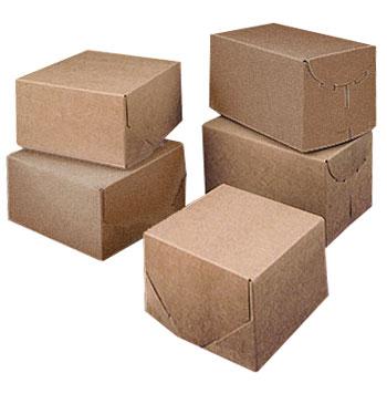 Ohio Valley Brown-White Reversable 2 Piece Lock Corner Boxes