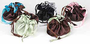 Reversible Satin Gift and Jewelry Wrappers w/Drawstring
