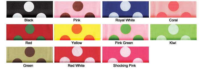 Wire Edge Ringleader Dots Ribbon (Wide Width)