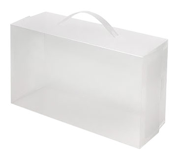 Frosted Woman's Shoe Boxes w/ Handle