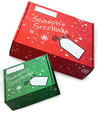 Seasons Greetings Corrugated Mailer Boxes