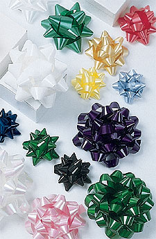 Self Sticking Star Bows